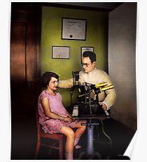 Optometrist - The eye exam 1929 Poster