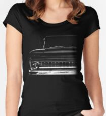 1963 Chevrolet C-10, Apache Pickup Women's Fitted Scoop T-Shirt