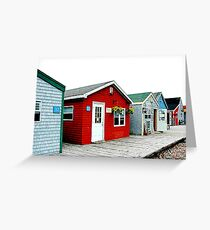 in a row Greeting Card