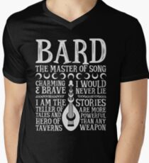 BARD, THE MASTER OF SONG - Dungeons & Dragons (White) Men's V-Neck T-Shirt