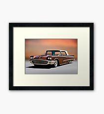 1958 Ford Thunderbird Custom Low Rider Framed Print