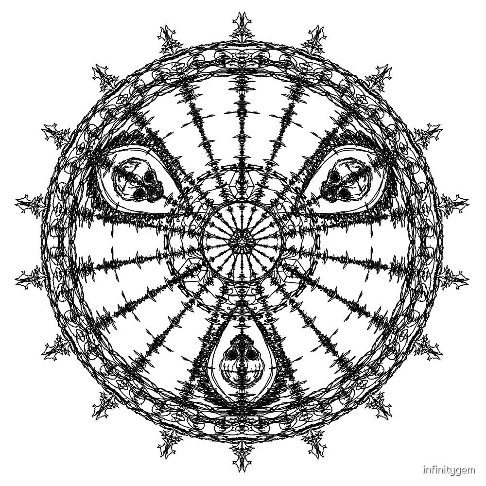 Skull Mandala Pattern by infinitygem