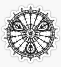 Skull Mandala Pattern Sticker
