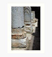 Roman Colonnade, Cartagena, Spain Art Print