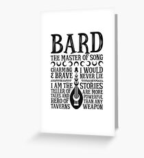 BARD, THE MASTER OF SONG - Dungeons & Dragons (Black) Greeting Card