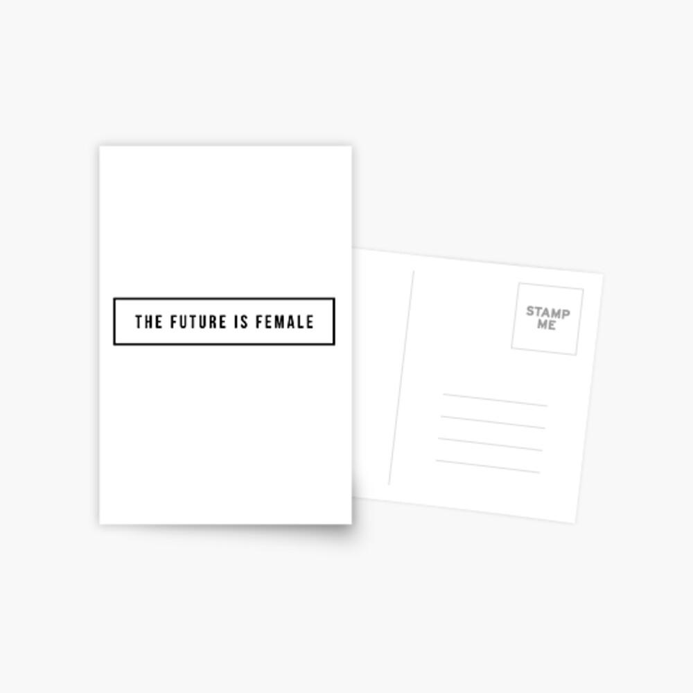Die Zukunft ist weiblich Postkarte