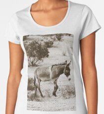 Walking Burro Women's Premium T-Shirt