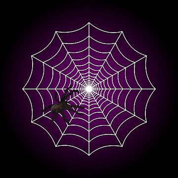 Zombie Purple Spider Web by Creepyhollow