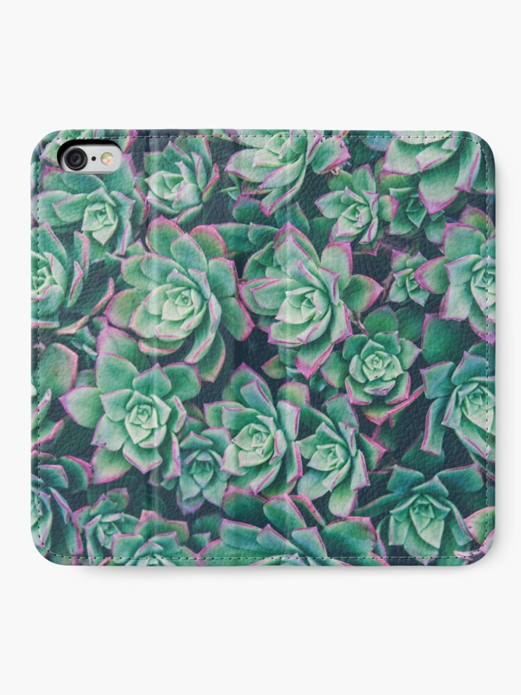 Alternate view of succulent garden iPhone Wallet