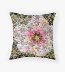 Floral Big Bang Throw Pillow