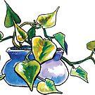 Squat Philodendron by Kerstin La Cross