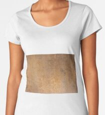Grunge metal texture Women's Premium T-Shirt