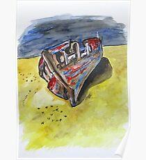 Junk Fishing Boat Poster