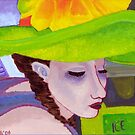 Girl with Big Green Hat by melasdesign