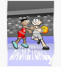Two basketball players in action Poster