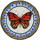 Monarch Butterfly Flower Mandala by KFStudios