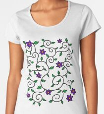 Flowers and Leaves Women's Premium T-Shirt