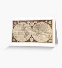Antique New Map of The World 1799 Greeting Card