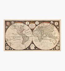 Antique New Map of The World 1799 Photographic Print