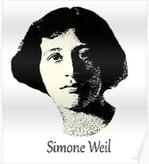 The great Simone Weil ~ 1921 design Poster