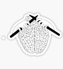 Brain Knitting Sticker
