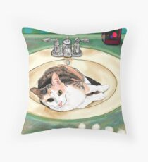 Catrina in the Sink Throw Pillow