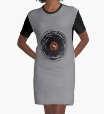 I'm spinning within with a vinyl record... GRUNGE TEXTURE Graphic T-Shirt Dress