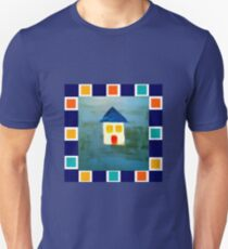 House Out of the Blue with Tile Motif T-Shirt