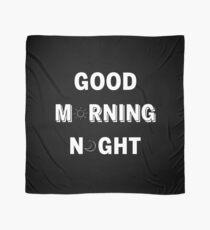GOOD MORNING/NIGHT BLACK Scarf