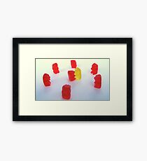 Gummy Circle Framed Print