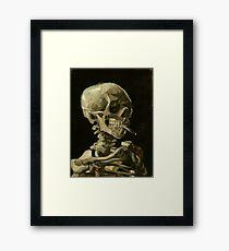 Skull of a Skeleton with Burning Cigarette by Vincent van Gogh Framed Print