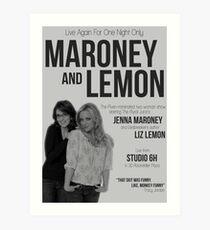 Maroney and Lemon Art Print
