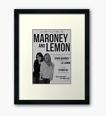 Maroney and Lemon Framed Print
