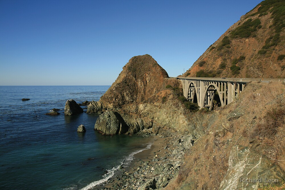Bixby Creek Arch Bridge  •  Big Sur, California by Richard  Leon