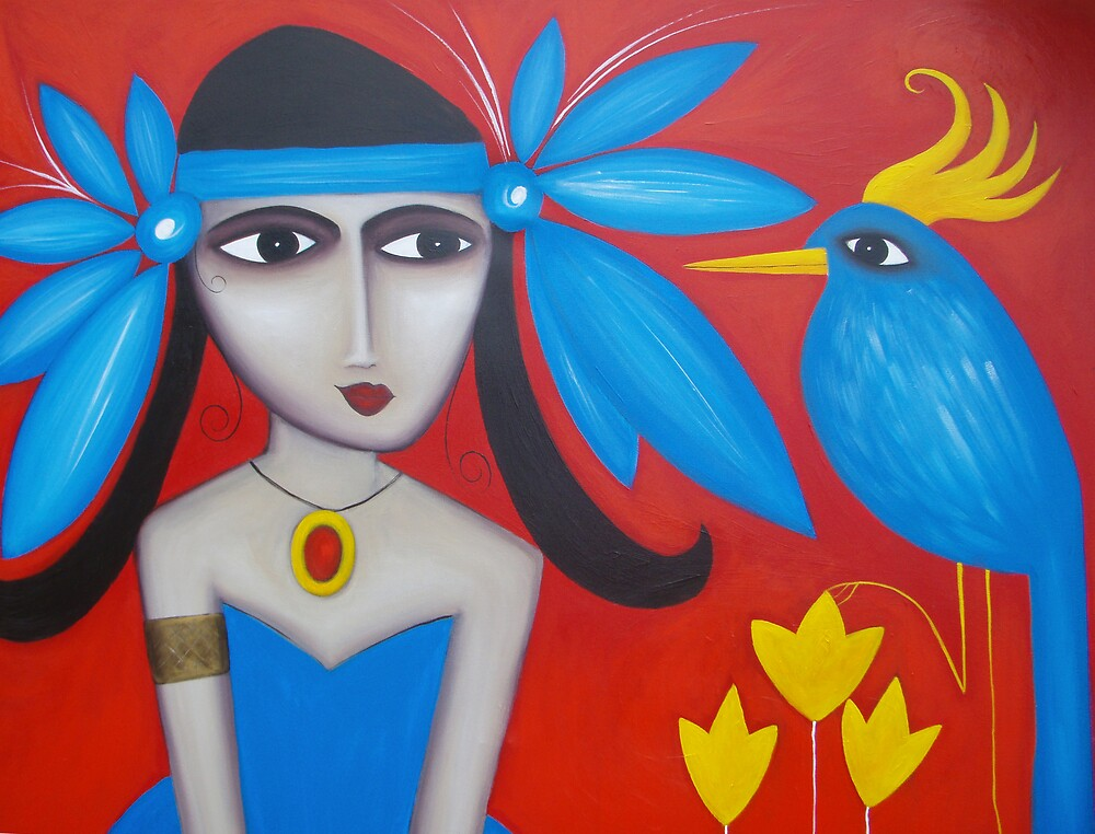 Lady in Blue by Cheryl Peteresen