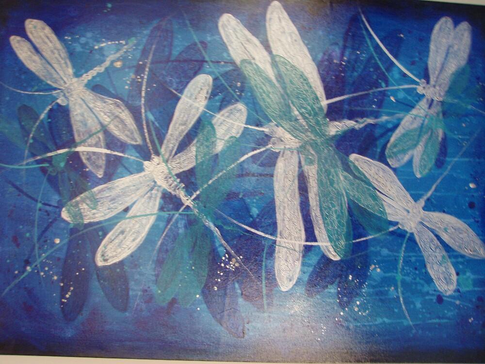 silver dragonflies by Cheryl Peteresen