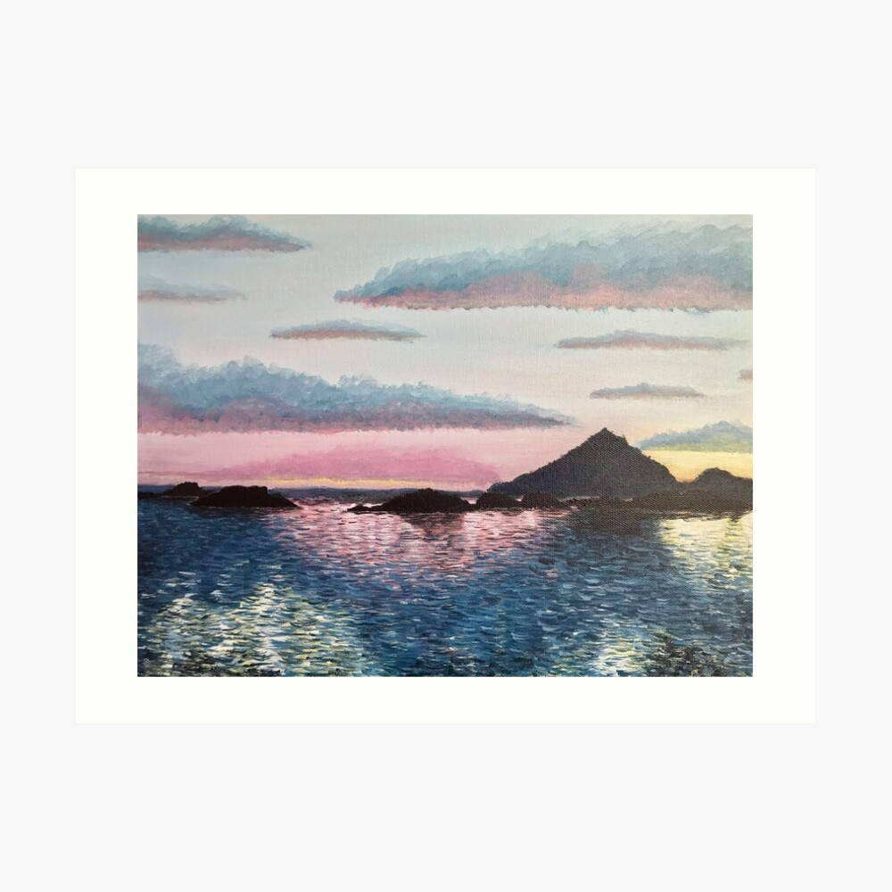Evening on the Leinesfjord Art Print