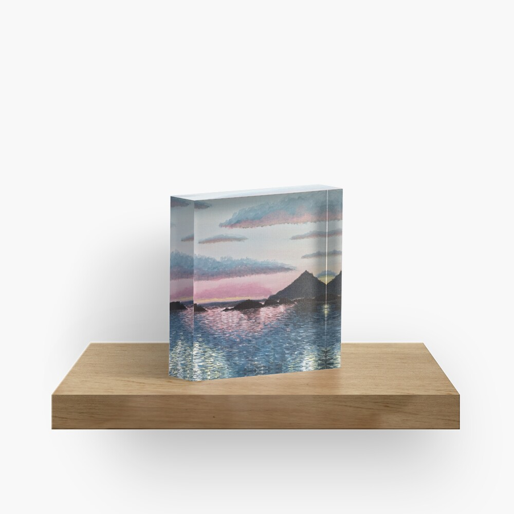 Evening on the Leinesfjord Acrylic Block