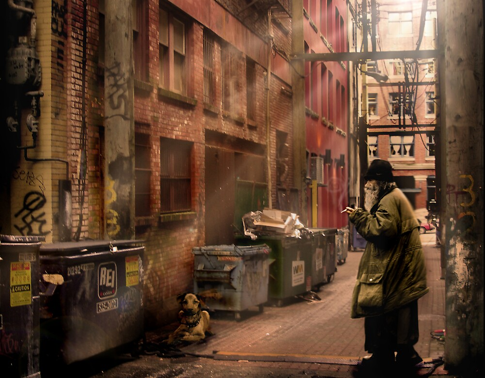 Hobo and Dog  by Cliff Vestergaard