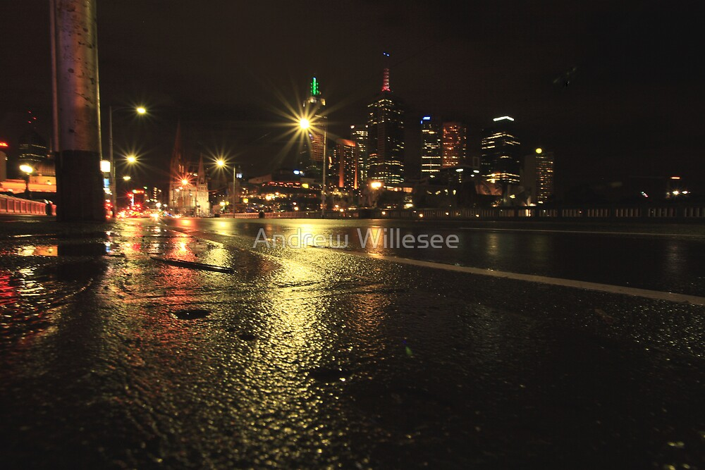 Melbourne Sidewalk by Andrew Willesee