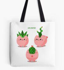 cat planter Tote Bag