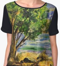 Tarlton landscape in Acrylic Women's Chiffon Top