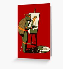 Teenage Mutant Masterpiece Greeting Card