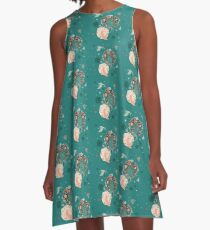 Lovely Forest A-Line Dress