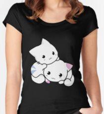 Cute kitten pair Women's Fitted Scoop T-Shirt