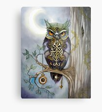 Clockwork Owl 1 Metal Print