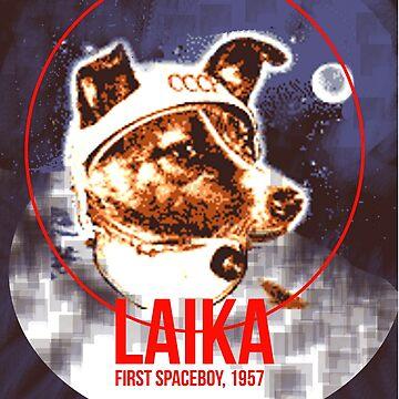 Laika first spaceboy, 1957 by KosmonautLaika