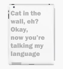 Charlie Day - Cat in the wall iPad Case/Skin