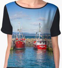 Fishing Boats Women's Chiffon Top