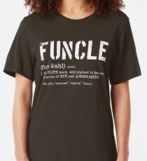 Funcle Fun Uncle Definition For Military Veterans Slim Fit T-Shirt